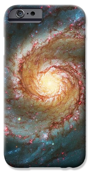 Whirlpool Galaxy  iPhone Case by The  Vault - Jennifer Rondinelli Reilly
