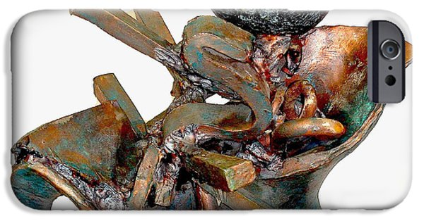 Line Sculptures iPhone Cases - Whirlwind iPhone Case by Al Goldfarb