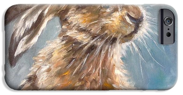 March Hare iPhone Cases - Whiskers iPhone Case by Louise  Brown