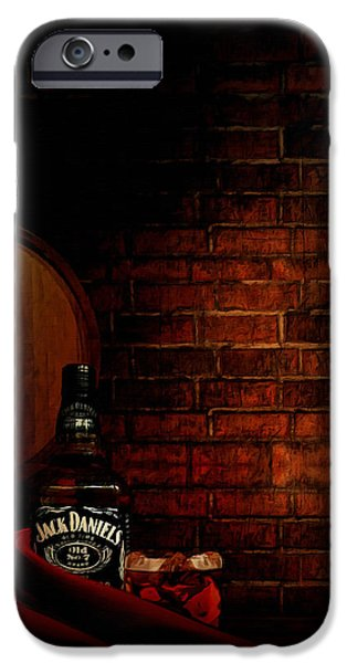 Booze iPhone Cases - Whiskey Fancy iPhone Case by Lourry Legarde