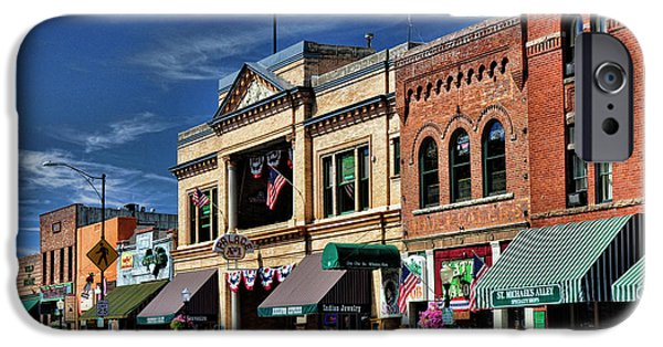 Prescott Arizona iPhone Cases - Whiskey Row - Prescott  iPhone Case by Saija  Lehtonen