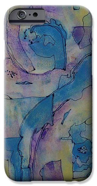 Business Paintings iPhone Cases - Whisper iPhone Case by Louise Adams