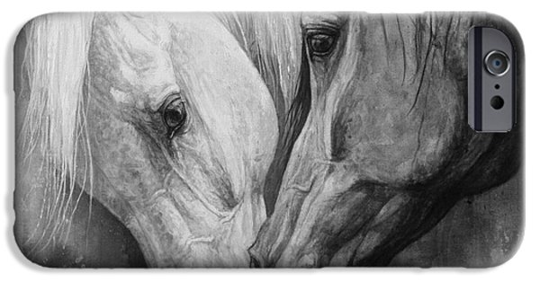 Horse Artist iPhone Cases - Whisper iPhone Case by Silvana Gabudean
