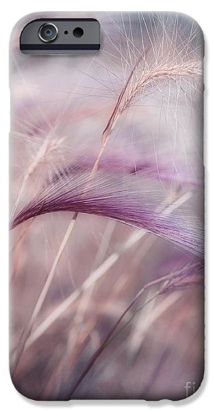 Texture iPhone Cases - Whispers In The Wind iPhone Case by Priska Wettstein