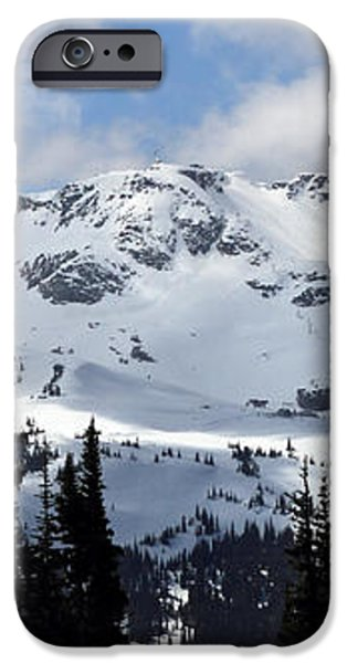 Whistler mountain peak view from Blackcomb iPhone Case by Pierre Leclerc Photography