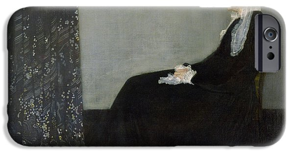 1871 iPhone Cases - Whistlers Mother iPhone Case by James Abbott McNeill Whistler