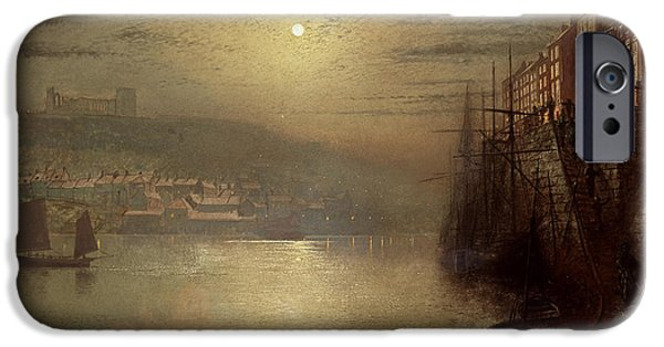 Hue iPhone Cases - Whitby iPhone Case by John Atkinson Grimshaw