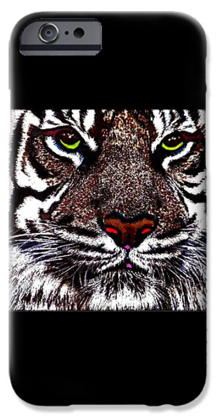 White Bengal iPhone Case by WBK