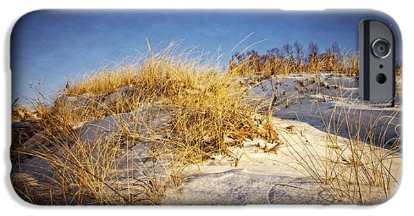 Drama iPhone Cases - White Dunes iPhone Case by LuAnn Griffin