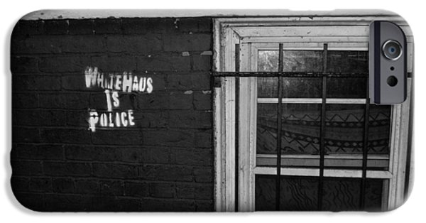 Police iPhone Cases - White Haus  iPhone Case by Nicholas Swanton