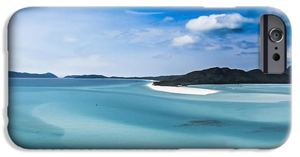 Whitsunday iPhone Cases - White Haven iPhone Case by Susannnguenter
