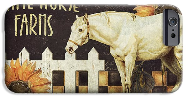 Buggy iPhone Cases - White Horse Farms Vermont iPhone Case by Mindy Sommers