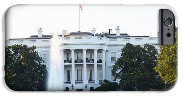 D.c. iPhone Cases - White House iPhone Case by Pam Schmitt