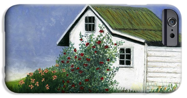 Best Sellers -  - Shed Pastels iPhone Cases - White House Red Roses iPhone Case by Ginny Neece