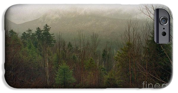 Town iPhone Cases - White Mountain Mist iPhone Case by Skip Willits