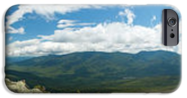 White Mountains iPhone Cases - White Mountains Pano iPhone Case by Sebastian Musial