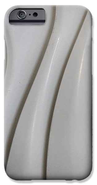 Abstractions iPhone Cases - White Plasctic Abstract 2 iPhone Case by Denise Clark