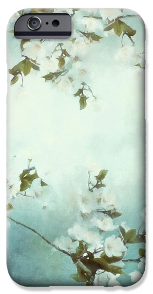 Cherry Blossoms iPhone Cases - White Sakura Blossoms iPhone Case by Shanina Conway