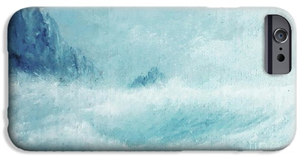 Etc. Paintings iPhone Cases - White Storm iPhone Case by Paul Rowe