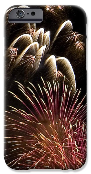 4th July Photographs iPhone Cases - White Trails iPhone Case by David Patterson