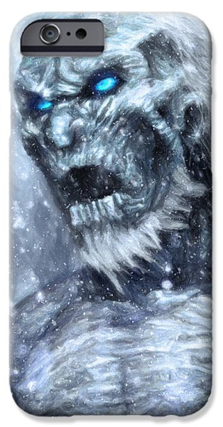 Oil Portrait Photographs iPhone Cases - White Walker iPhone Case by Taylan Soyturk