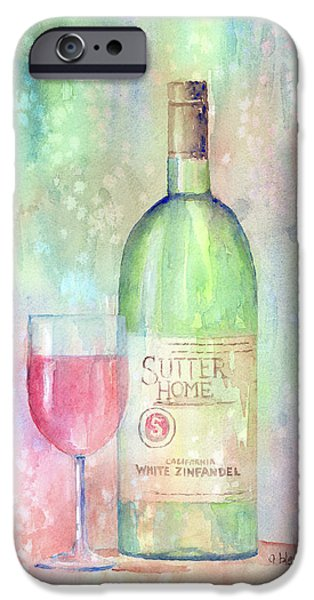 White Zinfandel iPhone Case by Arline Wagner