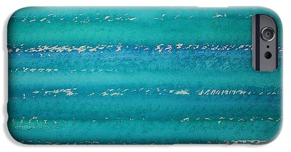 Marine iPhone Cases - Whitecaps original painting iPhone Case by Sol Luckman