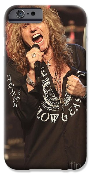 David iPhone Cases - Whitesnake Singer David Coverdale iPhone Case by Front Row Photographs