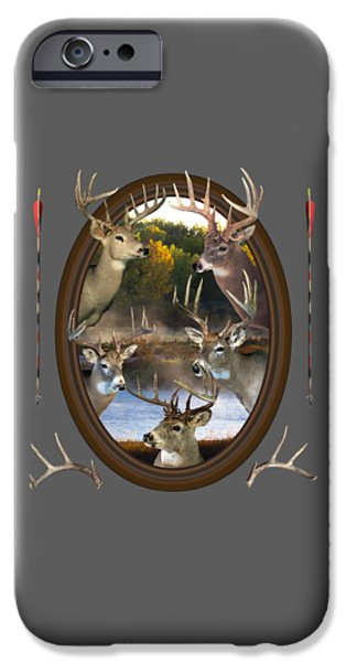 Young Mixed Media iPhone Cases - Whitetail Dreams iPhone Case by Shane Bechler
