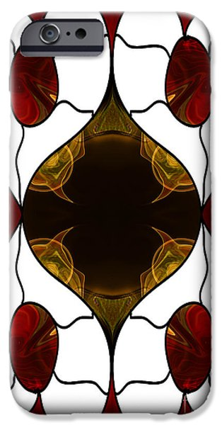 Earth Tones Drawings iPhone Cases - Who Do You Love Abstract Bliss Art by Omashte iPhone Case by Omaste Witkowski