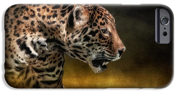 Panther Digital iPhone Cases - Who Goes There iPhone Case by Lois Bryan