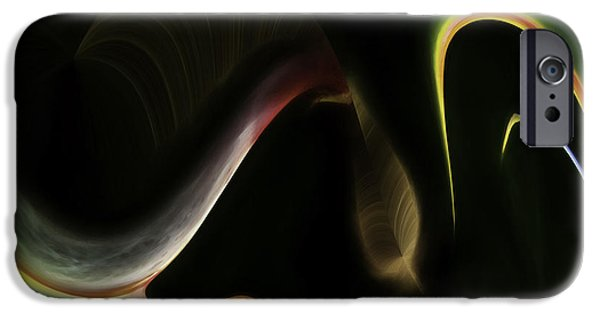 Abstract Digital Photographs iPhone Cases - Whoopi do iPhone Case by Maria Coulson