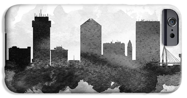iPhone Cases - Wichita Cityscape 11 iPhone Case by Aged Pixel
