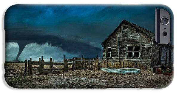 Storm Photographs iPhone Cases - Wicked iPhone Case by Thomas Zimmerman