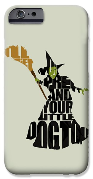 The Gift iPhone Cases - Wicked Witch of the West iPhone Case by Ayse Deniz
