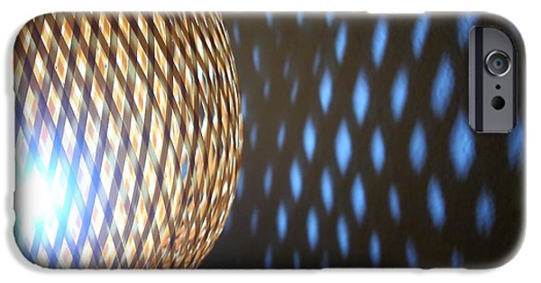 Night Lamp iPhone Cases - Wicker lamp with glow projection light iPhone Case by Gregory DUBUS