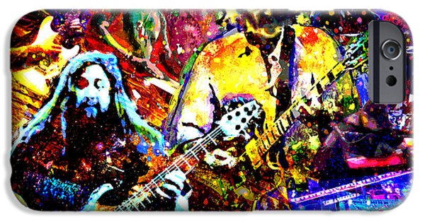 Red Rock Mixed Media iPhone Cases - Widespread Panic Art iPhone Case by Ryan RockChromatic