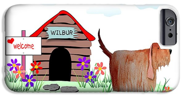 Doghouse iPhone Cases - Wilbur And The Butterfly iPhone Case by Arline Wagner