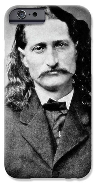 Fighter iPhone Cases - Wild Bill Hickok - American Gunfighter Legend iPhone Case by Daniel Hagerman