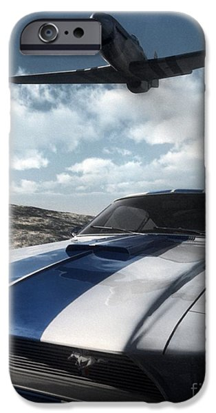 Antique Cars iPhone Cases - Wild Horses iPhone Case by Richard Rizzo