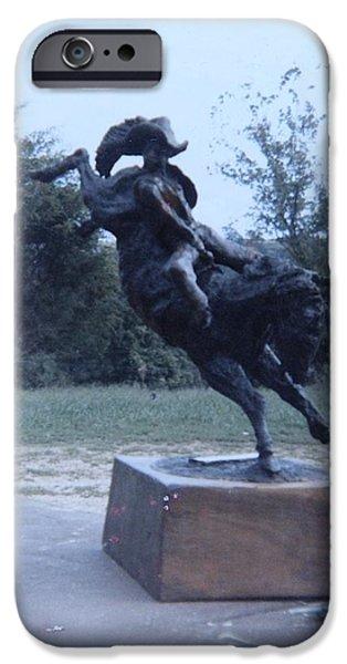The Horse Sculptures iPhone Cases - Wild Ride Sculpture iPhone Case by Vincent von Frese