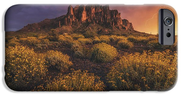 Peter James Nature Photography iPhone Cases - Wild Superstitions iPhone Case by Peter Coskun