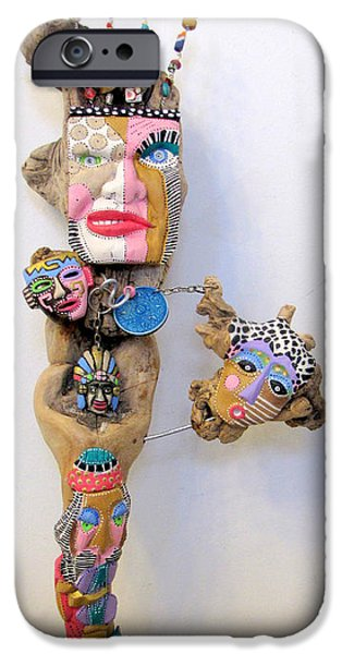 Fun Sculptures iPhone Cases - Wild Thang iPhone Case by Keri Joy Colestock