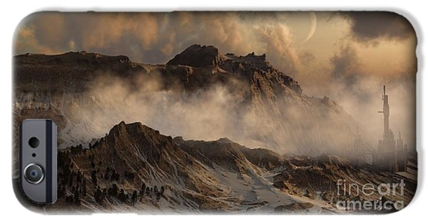 Planets Sculptures iPhone Cases - Wild Winds iPhone Case by Dave Luebbert