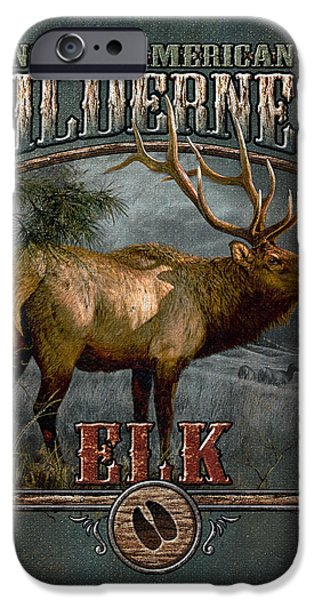 Pine Tree iPhone Cases - Wilderness Elk iPhone Case by JQ Licensing