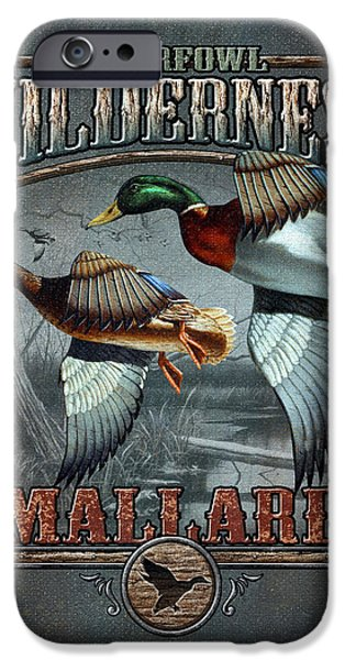 Antiques iPhone Cases - Wilderness mallard iPhone Case by JQ Licensing