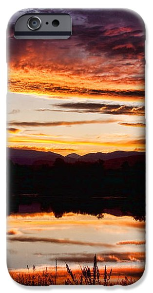 Wildfire Sunset Reflection Image 28 iPhone Case by James BO  Insogna