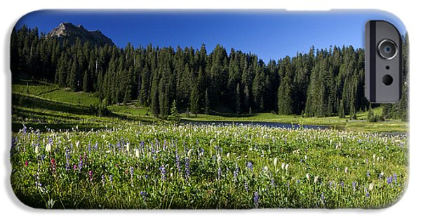 Meadow Photographs iPhone Cases - Wildflowers at Tipsoo Lake Mount Rainier National Park iPhone Case by Jason O Watson