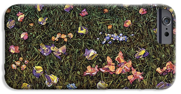 Texture iPhone Cases - Wildflowers iPhone Case by James W Johnson