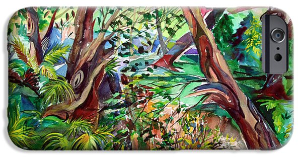 Creek Mixed Media iPhone Cases - Wilds iPhone Case by Mindy Newman